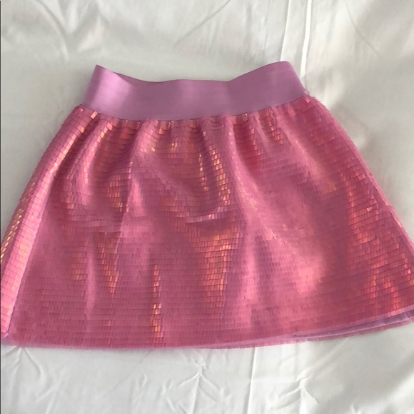 Skirt Skort Sz 7-8 or 16 Ombre Blue Pink Glitter waistband Girls